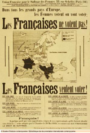 1919 les francaises ne votent pas