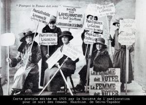 1925 carte postale vote femmes