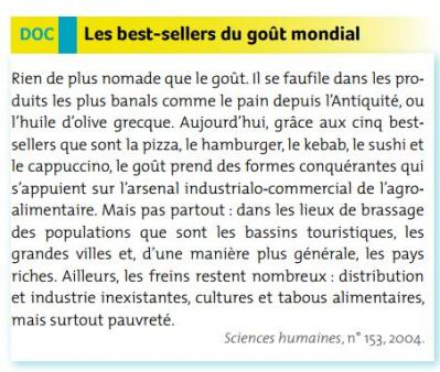 Best sellers du gouts 1