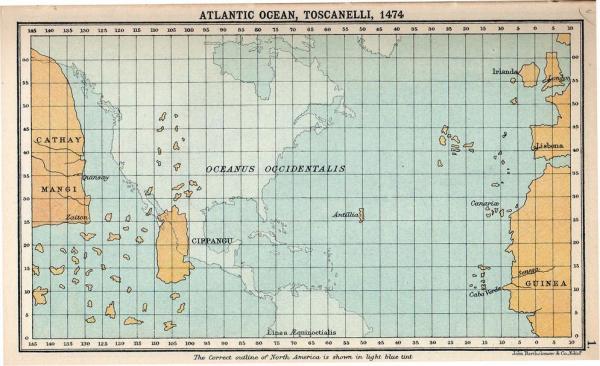 Ocean Atlantique Toscanelli 1474