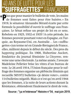 Suffragettes francaises